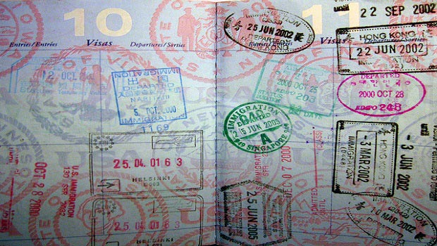 passport stamped with many countries for eb-5 visa investor