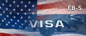 small photo of the US flag with an overlay of the visa application across the bottom
